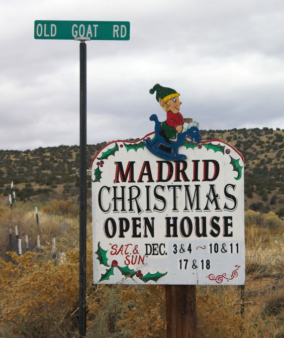 Madrid Christmas announcement sign